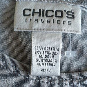 Chico's Tops - ❤️Chico's Travelers Gray Tank Top Size 0 - Small